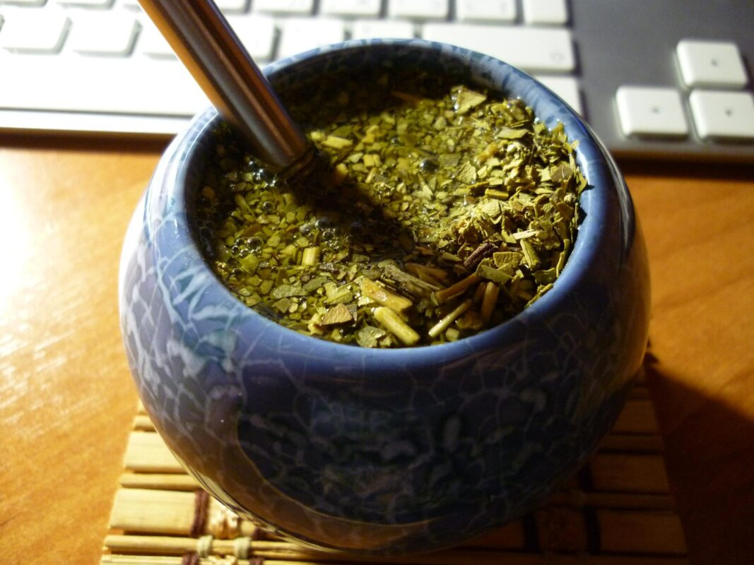 mate gourd with yerba mate